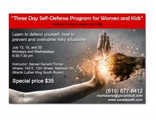 Flyer Design for Self Defense Class