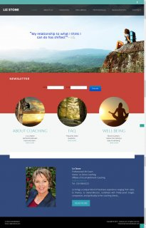Web Design for Coach Liz Stone