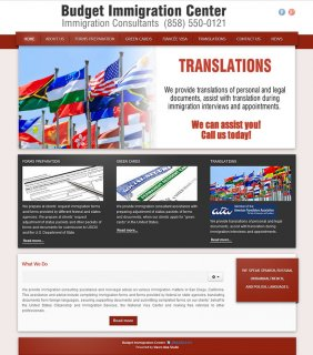 Website design for Budget Immigration Center